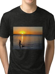 Wading in the Sunset Tri-blend T-Shirt