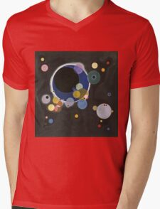 Kandinsky - Several Circles (Einige Kreise) Mens V-Neck T-Shirt