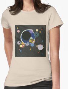 Kandinsky - Several Circles (Einige Kreise) Womens Fitted T-Shirt