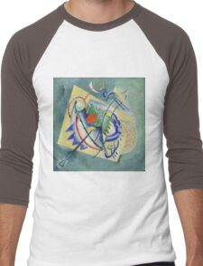 Kandinsky - Red Oval Men's Baseball ¾ T-Shirt