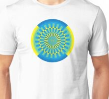 gyre - seaside - yellow blue Unisex T-Shirt