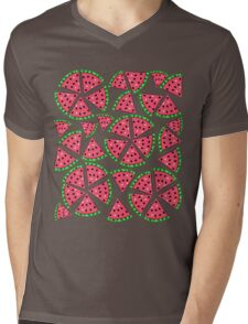 Watermelon Slice Party Mens V-Neck T-Shirt