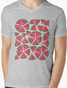 Watermelon Slice Party Mens V-Neck T-Shirt