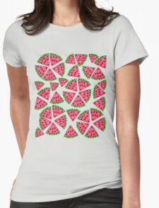 Watermelon Slice Party Womens Fitted T-Shirt