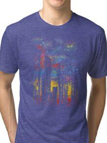 starry city lights Tri-blend T-Shirt