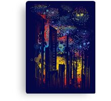 starry city lights Canvas Print