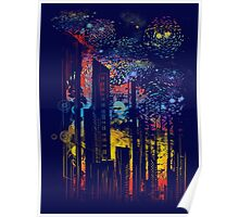 starry city lights Poster
