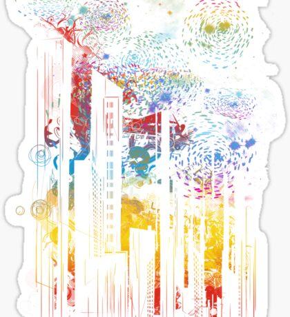 starry city lights Sticker