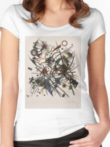 Kandinsky - Lithograhie Fur Die Fierte Bauhausmappe Women's Fitted Scoop T-Shirt