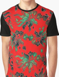 Vintage floral seamless pattern with hand drawn flowering crocus Graphic T-Shirt