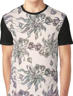 purple vintage floral seamless pattern with hand drawn flowering crocus Graphic T-Shirt