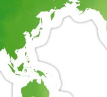 Green watercolour world map design Sticker