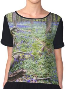 Violet Forest 2 - Nature Photography Chiffon Top