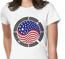 Korean American Multinational Patriot Flag Series Womens Fitted T-Shirt