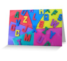 Random Letters Greeting Card
