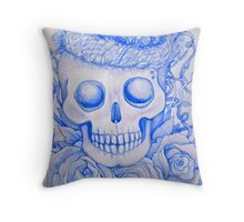 easter birds in skull Throw Pillow