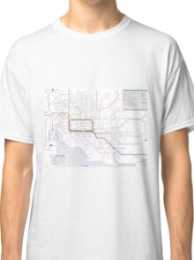 Melbourne train and tram map Classic T-Shirt