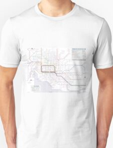 Melbourne train and tram map Unisex T-Shirt
