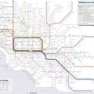 Melbourne train and tram map by Railmaps