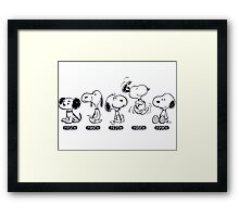 snoopy evolutions Framed Print