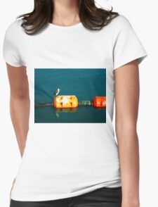 Penguin at Apollo Bay Womens Fitted T-Shirt