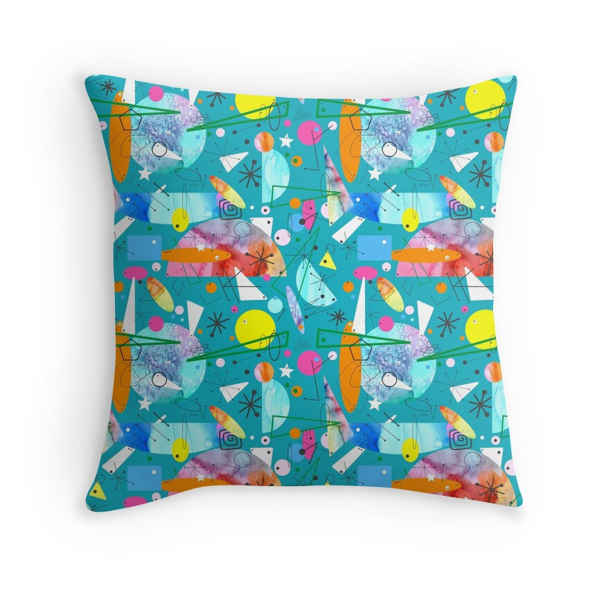 Mid Century Throw Pillow :