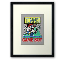 Gameboy Tennis Framed Print
