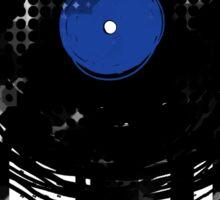 Melting Vinyl Records Oldies Retro Design Sticker