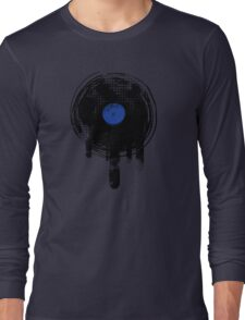 Melting Vinyl Records Oldies Retro Design Long Sleeve T-Shirt
