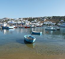 Mykonos Harbour by Trish Meyer