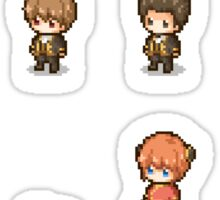 Pixel Gintama set Sticker