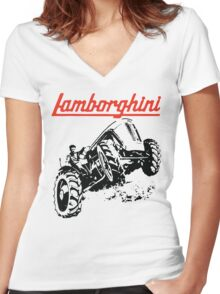 tractor shirt Women's Fitted V-Neck T-Shirt