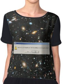 God Not Found, Hubble, Ultra Deep Field Chiffon Top