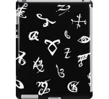 Shadowhunters runes (black and white) 2 iPad Case/Skin