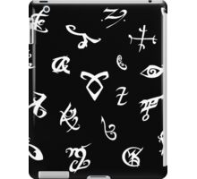 Shadowhunters runes (black and white) 2 iPad Case/Skin