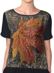 Autumn Colors and Playful Sunlight Patterns - Maple Leaf Chiffon Top