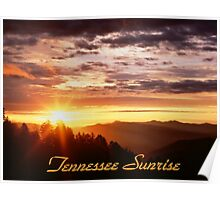 Tennessee Sunrise over the Great Smoky Mountains Poster