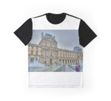 The Louvre With Fountain Graphic T-Shirt