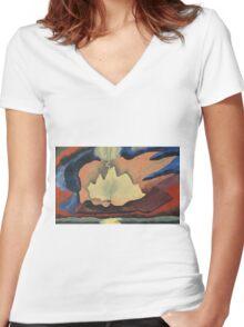 Kandinsky - Thunder Shower Women's Fitted V-Neck T-Shirt