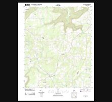USGS TOPO Map Alabama AL Flat Rock 20111013 TM Unisex T-Shirt
