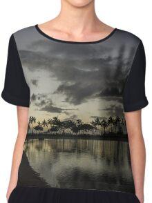 Hawaiian Twilight - Dreaming of Long Tropical Evenings Chiffon Top