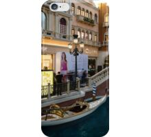 Magnificent Shopping Destination - White Wedding Gondola at the Venetian Grand Canal Shoppes iPhone Case/Skin