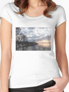 Lakeside Peace and Tranquility Women's Fitted Scoop T-Shirt