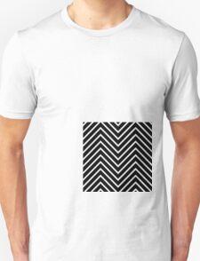 Black Orange Chevron Unisex T-Shirt