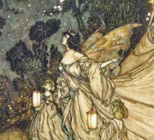 """""""A Midsummer Night's Dream"""" - Arthur Rackham Fairy Tale Art Sticker"""