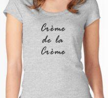 Black Best Ideal T-Shirt - French Saying crème de la crème Women's Fitted Scoop T-Shirt