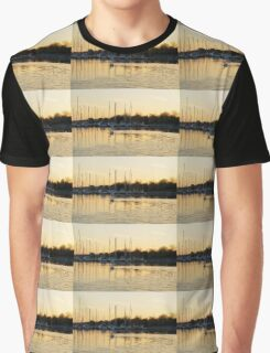 Golden Ripples and Reflections Graphic T-Shirt