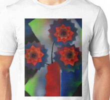 Red Vase with flowers Unisex T-Shirt