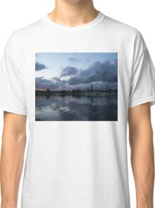 Reflecting on Boats and Clouds Classic T-Shirt