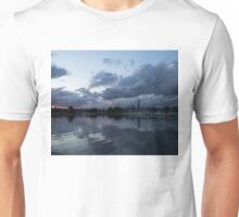 Reflecting on Boats and Clouds Unisex T-Shirt